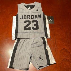 Jordan top and shorts size 2T